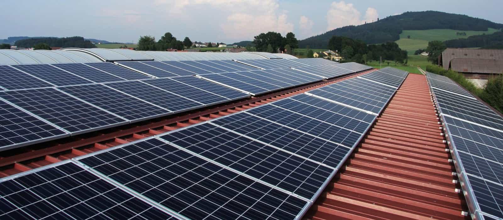 paneles solares en industria